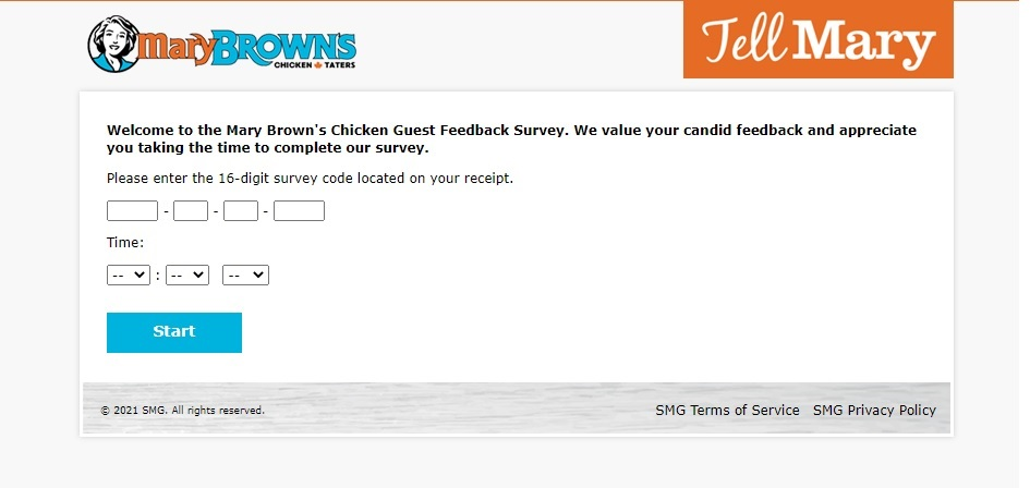 Take Mary Brown's Customer Feedback Survey